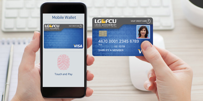 LGFCU card in mobile wallet