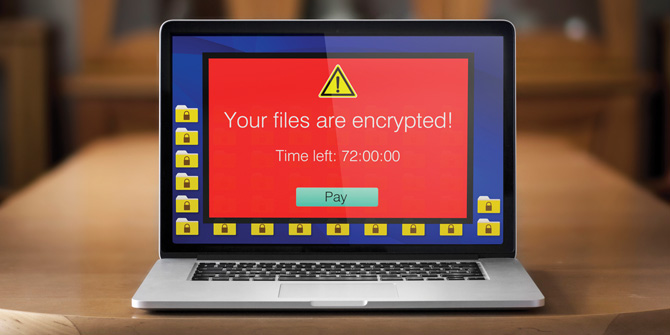 Encrypted files on laptop