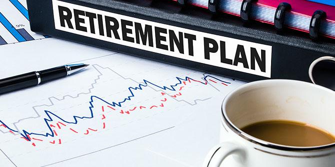 Retirement plan paperwork on a desk