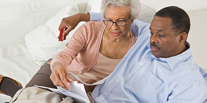 Couple reviewing IRA information