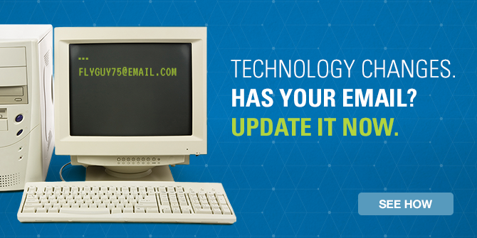 Technology changes. Has your email? Update your email now. See how.