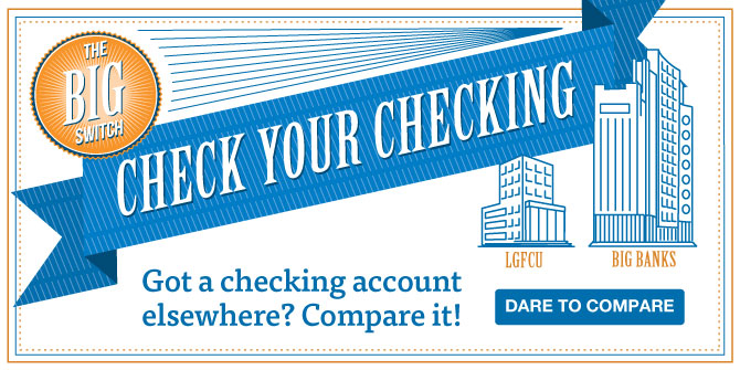 Checking account elsewhere? Compare it! Check your Checking.