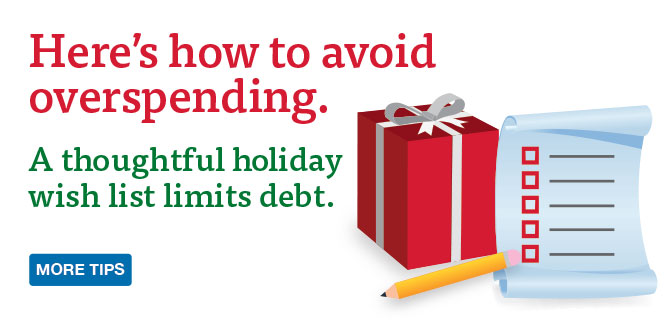 LGFCU video provides holiday spending strategies.