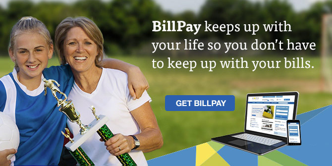 BillPay lets you pay your bills online automatically.