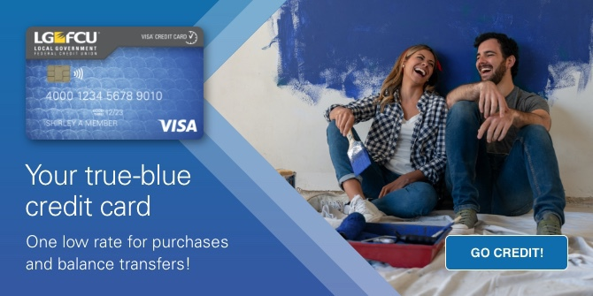 Your true-blue credit card  One low rate for purchases and balance transfers! Go Credit!
