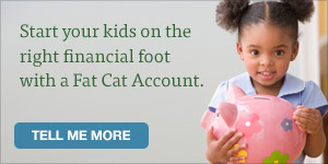 LGFCU Fat Cat Accounts are designed for kids.