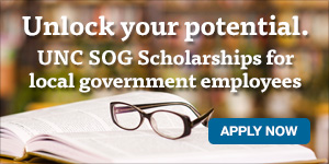 LGFCU offers scholarships to local government employees for professional development at the UNC School of Government. Apply now.