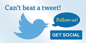 Can't beat a tweet! Follow us!