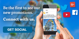 Be the first to see our new promotions. Connect with us.