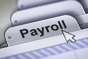 "Folder tab that says, ""Payroll"""
