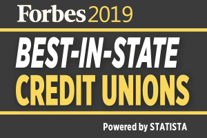 Forbes 2019 Best-in-state credit unions. Powered by STATISTA