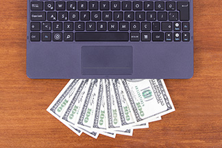 computer and money