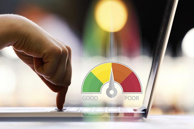 Credit score meter