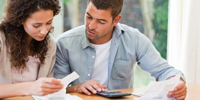 Couple reviewing tax deductions