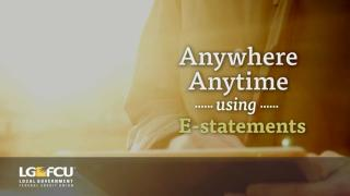 Anywhere, anytime using E-statements